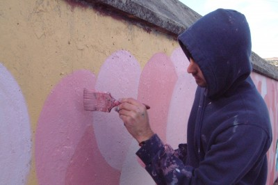 Painting walls can be creative compassion...